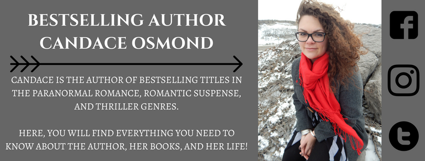 author candace osmond, thriller, paranormal romance author, romance, author