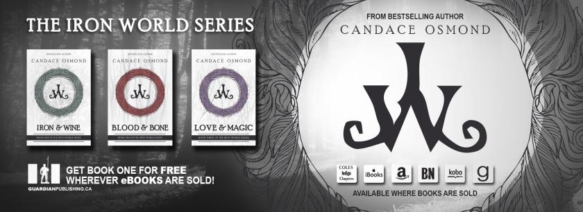 the iron world series, iron & wine, Blood & Bone, Love & Magic, paranormal romance